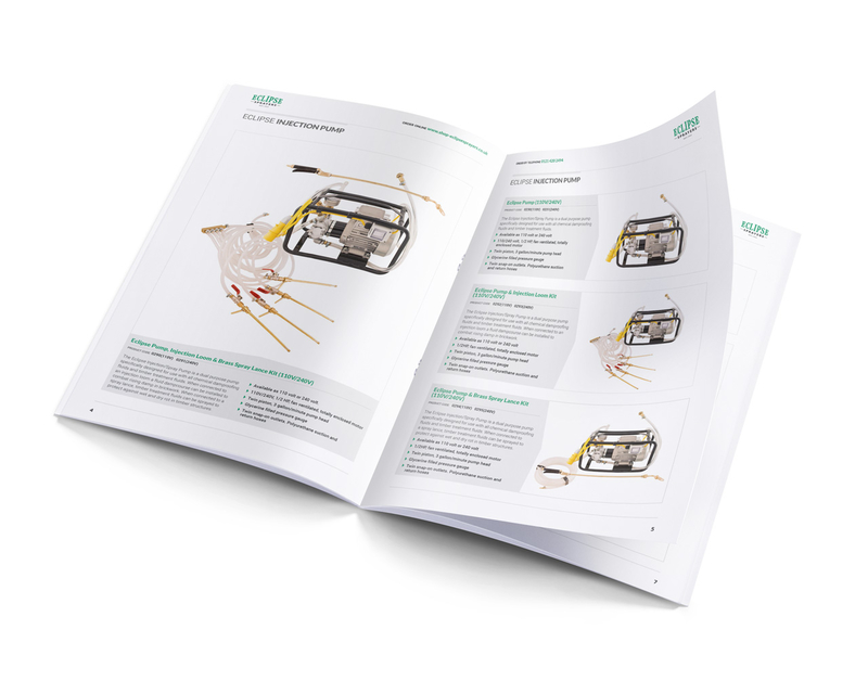Eclipse Sprayers product catalogue - inner spread