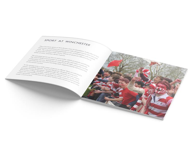 Winchester College Director of Sport vacancy brochure - inner spread