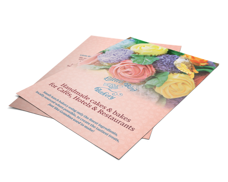 A5 leaflet for Little Bird Bakery