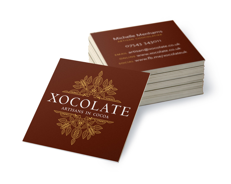 Xocolate - business card brown