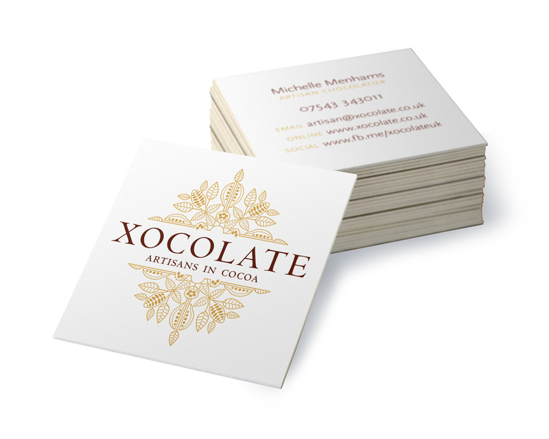 Xocolate - business card white