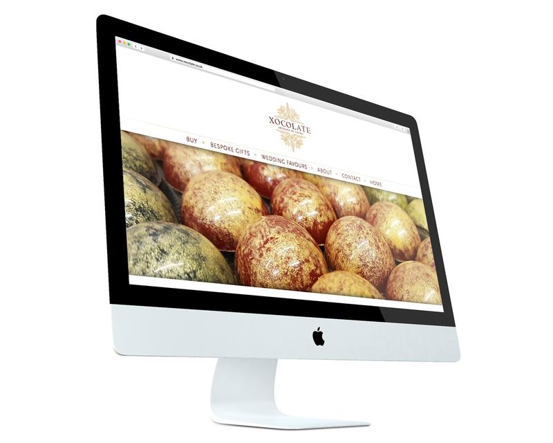 Xocolate website design - desktop