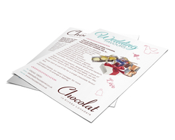 Chocolate club leaflet for Chocolat in Kirkby Lonsdale