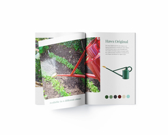 Haws Watering Cans - What's New brochure - centre spread