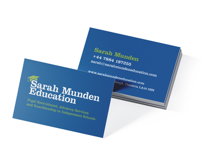 Business card design for Sarah Munden Education
