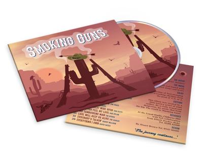 Smoking Guns CD cover design